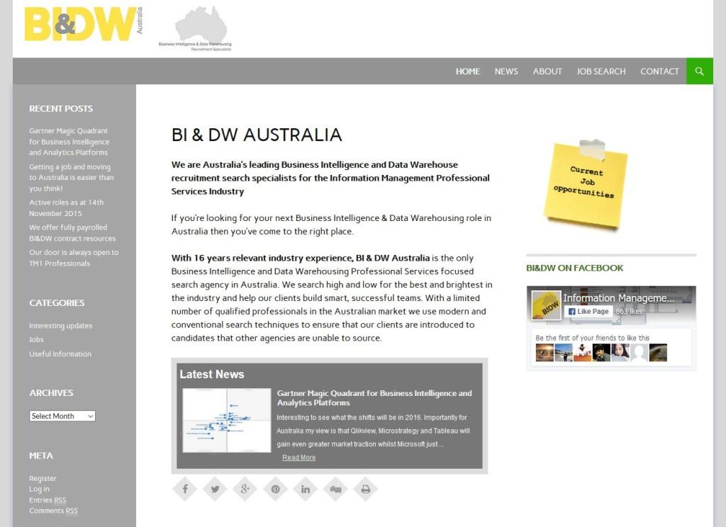 BI & DW Australia